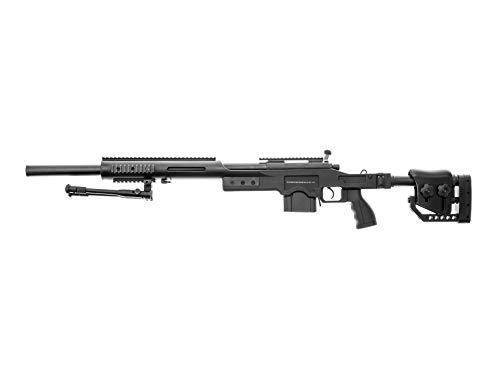 Swiss Arms Airsoft S.A.S 10 Sniper schwarz- gefedert/Spring/Aufladung Handbuch (0,5 Joule)