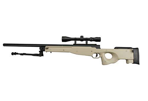 Delta Armory Well MB01C / L96 Airsoft Sniper TAN Rifle inkl. Bipod & Zielfernrohr Downgrade Edition 0,5 J.