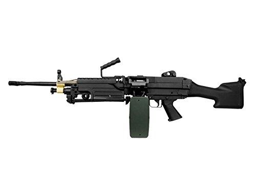 A&K M249 MK2 Vollauto Softair/Airsoft Light Machine Gun Maschinengewehr -schwarz-  0,5 Joule