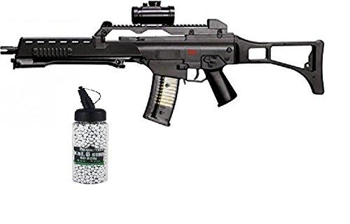 G8DS Set: Softair HK Heckler & Koch G36 Sniper Gewehr unter 0,5 Joule federdruck Softair Munition Bio BBS Premium Selection 2000 Stück 0,20 g 6mm