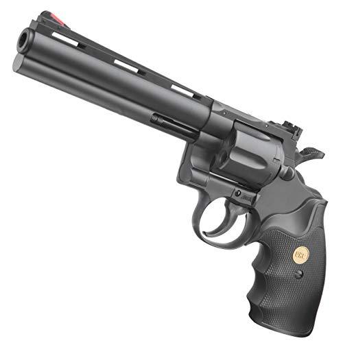 UHC .357 6 Zoll Softair Revolver mit Hülsen Kaliber 6mm BB schwarz