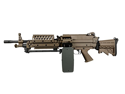 A&K MK46 Vollauto Softair/Airsoft Light Machine Gun Maschinengewehr -TAN-  0,5 Joule