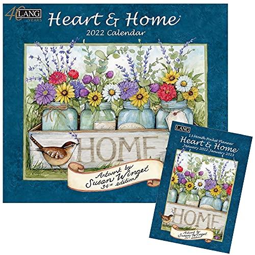 Lang Heart and Home 2021 Wandkalender und Monatsplaner, Set